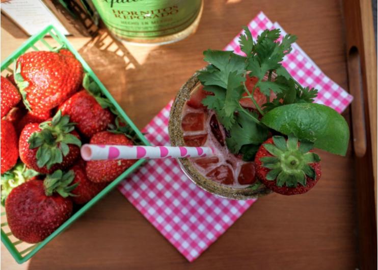 Strawberry Cilantro Margaritas